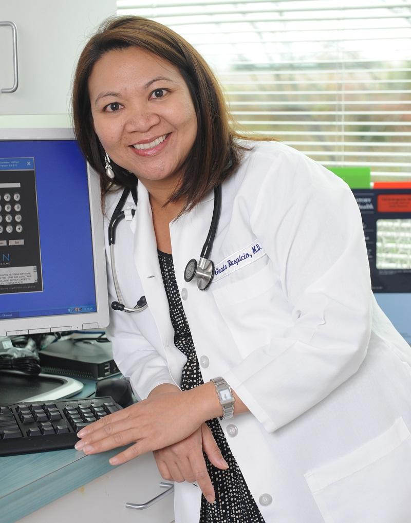 Guada Respicio Duque, MD, MS, FACP, FACR, Rheumatolgist, Arthritis and Rheumatism Associates